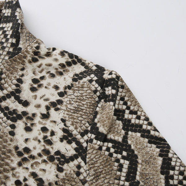 Y LABEL APPAREL: Cobra Snake Print Turtleneck Mini - Y LABEL APPAREL