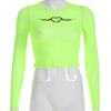 Y LABEL APPAREL: Loaded Neon Mesh Crop - Y LABEL APPAREL