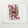 Y LABEL APPAREL: Queen of Hearts Embroidered Tube Top - Y LABEL APPAREL