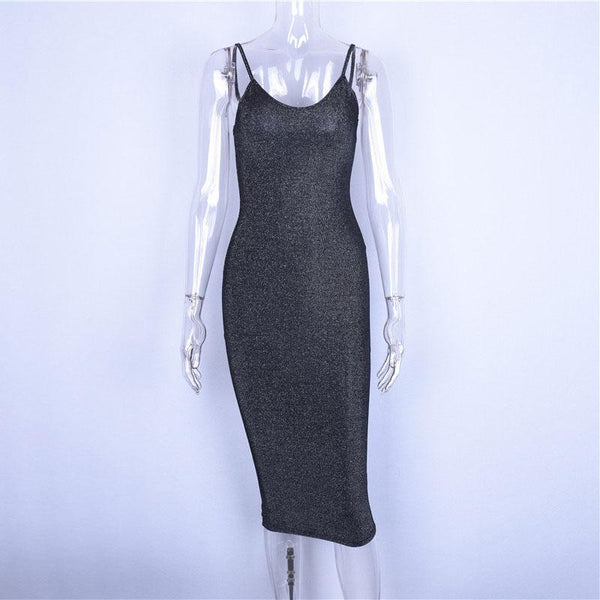 Y LABEL APPAREL: Star Girl Fitted Midi Dress - Y LABEL APPAREL