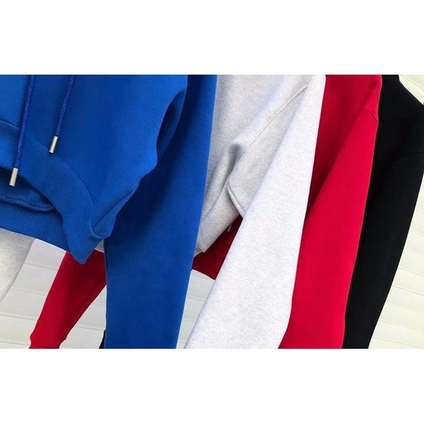 Y LABEL APPAREL: Thick Ultra Cropped Hoodie - Y LABEL APPAREL