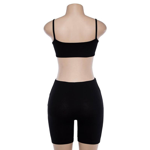 Y LABEL APPAREL: Underbust Crop and Shorts Set - Y LABEL APPAREL