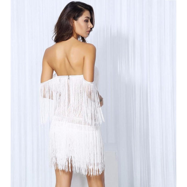Y LABEL APPAREL: Valentina Drop Tassel Dress - Y LABEL APPAREL