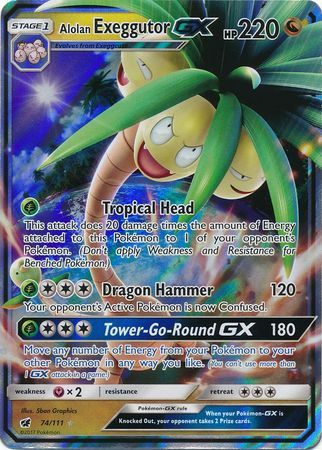 Alolan Exeggcutor GX - 74/111 - Crimson Invasion - Card Cavern