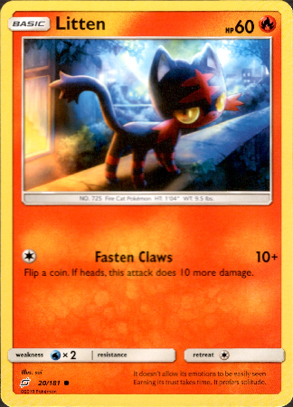 Litten - 20/181 - Team Up - Card Cavern