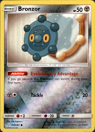 Bronzor - 100/181 - Team Up - Reverse Holo - Card Cavern
