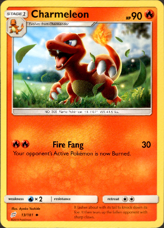 Charmeleon - 13/181 - Team Up - Card Cavern