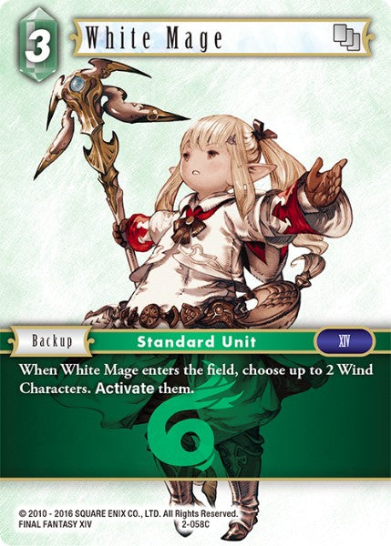 White Mage - 2-058C - Opus II - Foil - Card Cavern