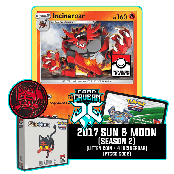 2017 Sun & Moon Season 2 PTCGO Code - Card Cavern
