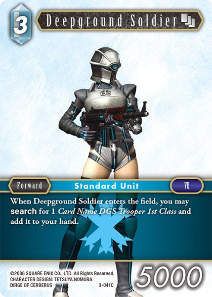 Deepground Soldier - 3-041C - Opus III - Foil - Card Cavern