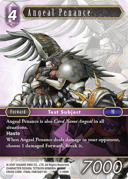 Angeal Penance - 3-099R - Opus III - Foil - Card Cavern