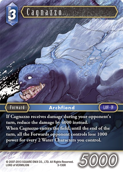 Cagnazzo - 3-130R - Opus III - Card Cavern