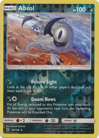 Absol - 81/145 - Guardians Rising - Reverse Holo - Card Cavern
