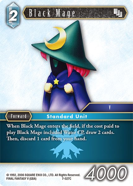 Black Mage - 7-027C - Opus VII - Card Cavern