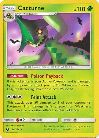 Cacturne - 20/168 - Celestial Storm - Card Cavern