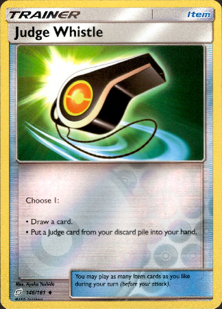 Judge Whistle - 146/181 - Team Up - Reverse Holo - Card Cavern