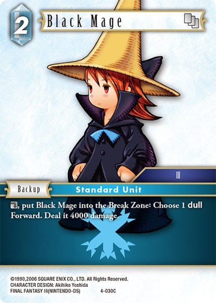 Black Mage - 4-030C - Opus IV - Card Cavern
