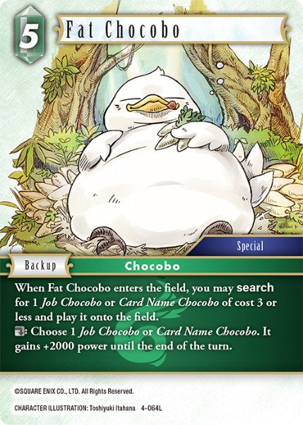 Fat Chocobo - 4-064L - Opus IV - Card Cavern