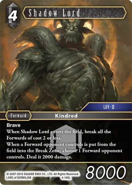 Shadow Lord - 4-148L - Opus IV - Foil - Card Cavern
