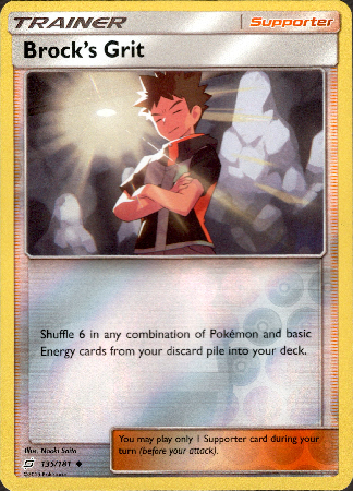 Brock's Grit - 135/181 - Team Up - Reverse Holo - Card Cavern