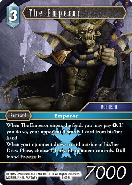 The Emperor - 5-036L - Opus V - Foil - Card Cavern