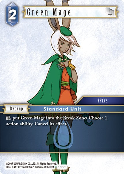 Green Mage - 5-137C - Opus V - Foil - Card Cavern