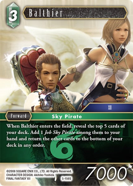 Balthier - 5-156S - Opus V Card Cavern Trading Cards