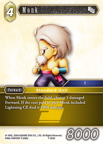 Monk - 7-083C - Opus VII - Card Cavern
