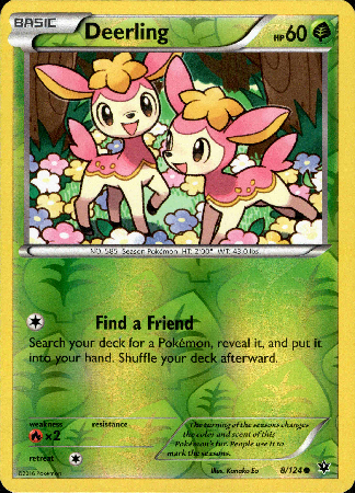 Deerling - 8/124 - Fates Collide - Reverse Holo - Card Cavern