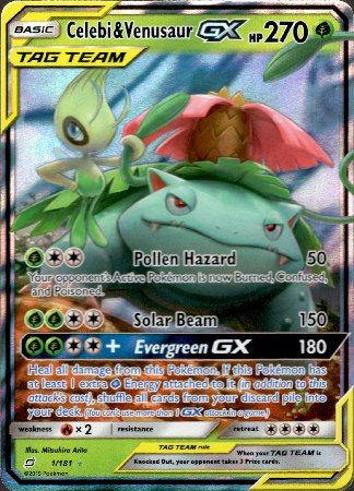 Celebi & Venusaur GX - 1/181 - Team Up - Card Cavern