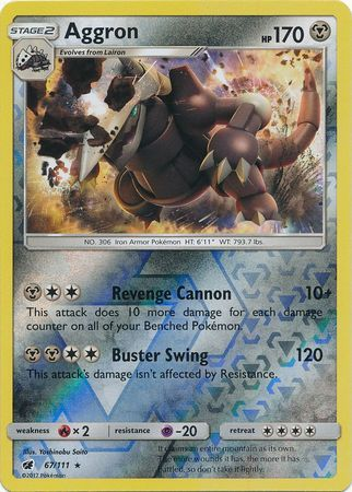 Aggron - 67/111 - Crimson Invasion - Reverse Holo - Card Cavern