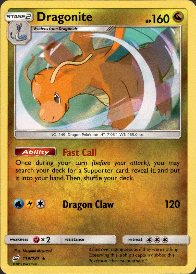 Dragonite - 119/181 - Team Up - Holo - Card Cavern
