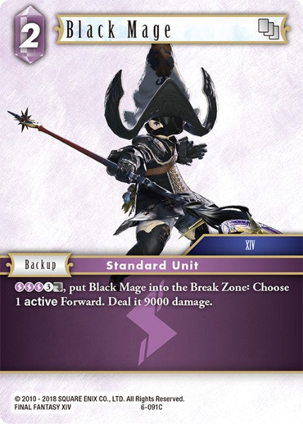 Black Mage - 6-091C - Opus VI - Card Cavern