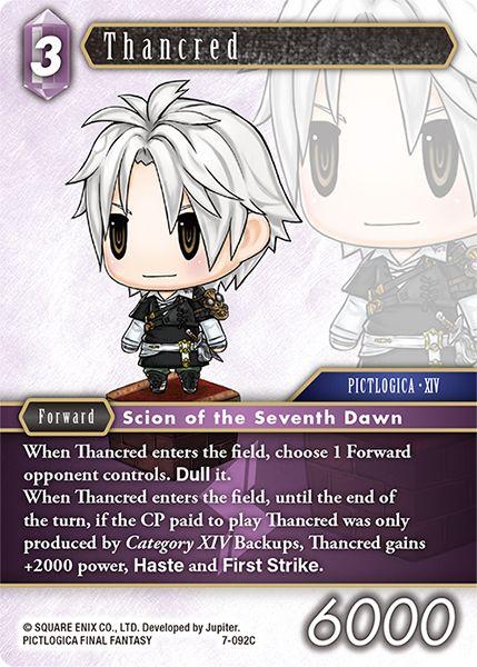 Thancred - 7-092C - Opus VII - Card Cavern