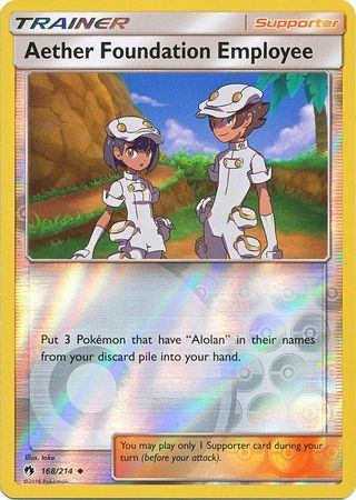 Aether Foundation Employee - 168/214 - Lost Thunder - Reverse Holo - Card Cavern