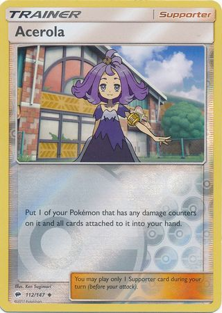 Acerola - 112/147 - Burning Shadows - Reverse Holo - Card Cavern
