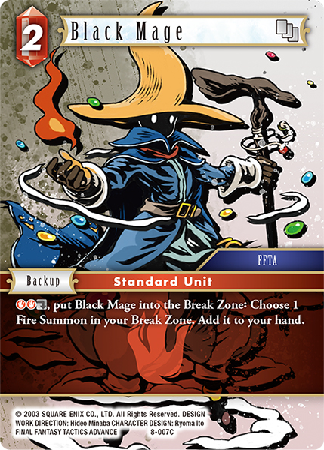Black Mage - 8-007C - Opus VIII - Card Cavern