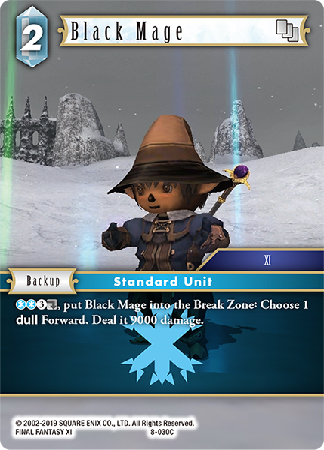 Black Mage - 8-030C - Opus VIII - Card Cavern