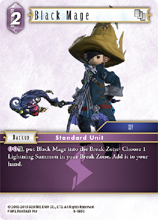 Black Mage - 8-095C - Opus VIII - Card Cavern