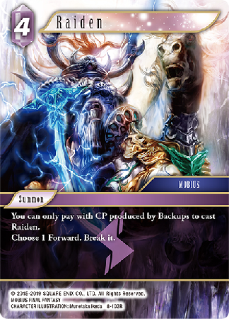 Raiden - 8-103R - Opus VIII - Card Cavern