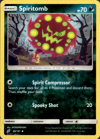 Spiritomb - 89/181 - Team Up - Reverse Holo - Card Cavern