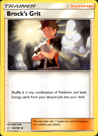 Brock's Grit - 135/181 - Team Up - Card Cavern