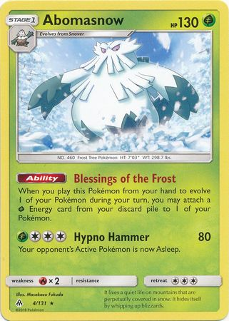 Abomasnow - 4/131 - Forbidden Light - Card Cavern