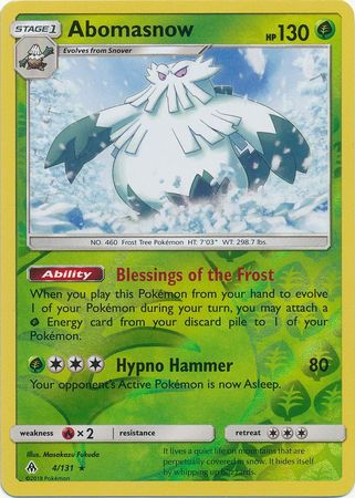 Abomasnow - 4/131 - Forbidden Light - Reverse Holo - Card Cavern