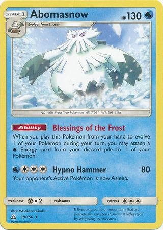 Abomasnow - 38/156 - Ultra Prism - Card Cavern