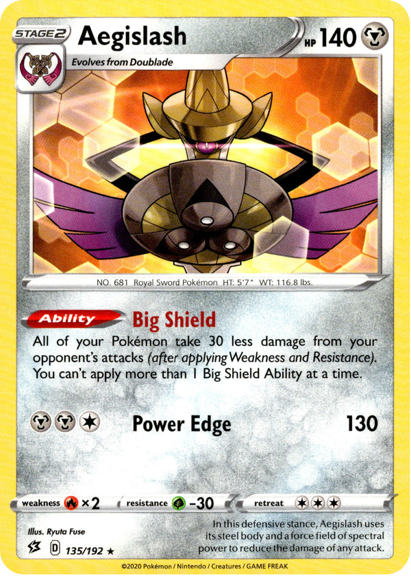 Aegislash - 135/192 - Rebel Clash - Card Cavern