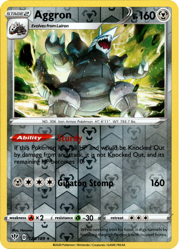 Aggron - 123/189 - Darkness Ablaze - Reverse Holo - Card Cavern