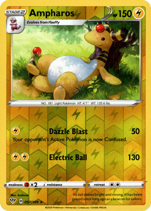 Ampharos - 57/189 - Darkness Ablaze - Reverse Holo - Card Cavern