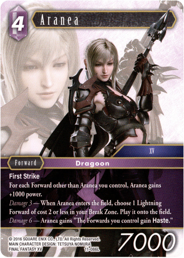 Opus XI Lightning FF TCG Full Arts Foil Forward Aranea PR-067//11-086L
