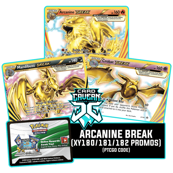 Arcanine BREAK Evolution - Promos - PTCGO Code - Card Cavern
